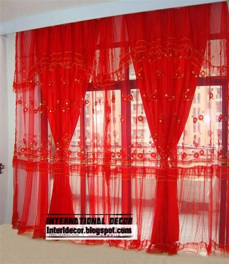 red window curtains red curtains and window treatments in the interiors
