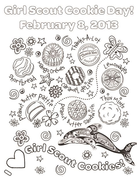 National Girl Scout Cookie Day On Feb 8th Spring Creek Su Scout Cookie Coloring Pages