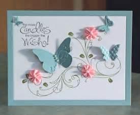 handmade birthday card stin up whimsical by whimsyartcards
