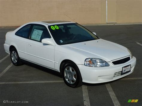 2000 honda civic ex 2000 taffeta white honda civic ex coupe 99173039