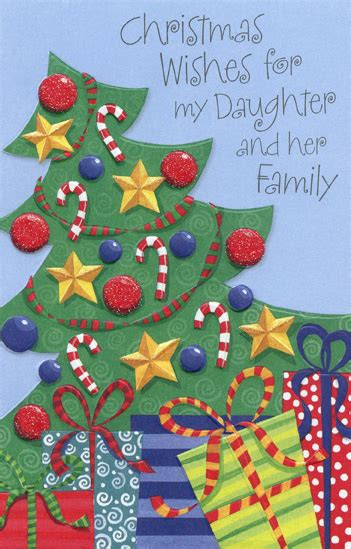decorated tree daughter  card envelope christmas card  curiosities greeting cards