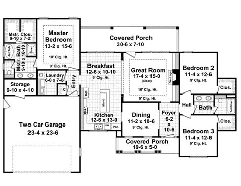 1800 square foot floor plans ranch style house plans 1800 square foot home 1 story