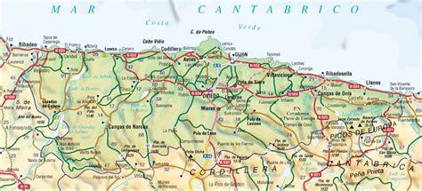 asturias mapa de carreteras mapa del principado de asturias