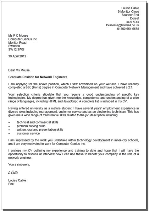 Covering Letter Exles Uk by Uk Cover Letter Format Best Template Collection