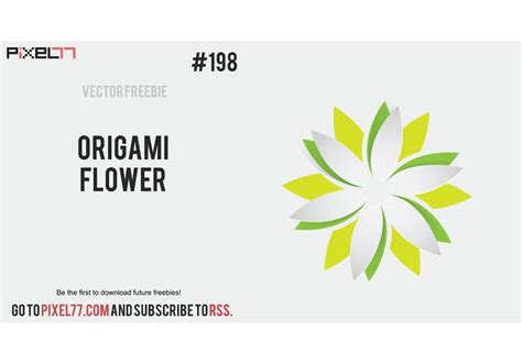 Origami Of The Day - free vector of the day 198 origami flower