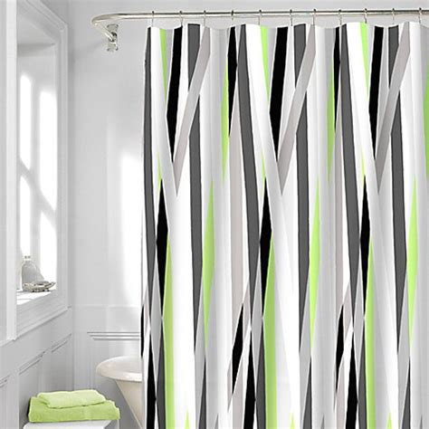 shower curtain silver axis shower curtain in silver bed bath beyond