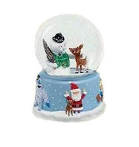 hallmark extra large snow globes 2006 rudolph and friends snow globe table topper hallmark ornament at ornament mall