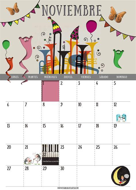 Calendario Noviembre 2017 Pdf Ya Vienen Los Reyes Calendario Musical 2017