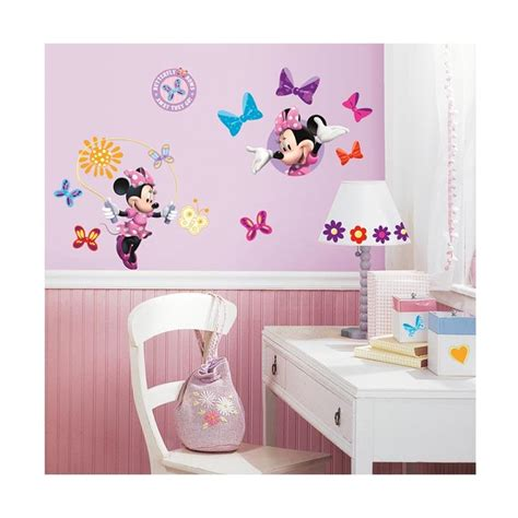 blibli walls jual minnie mouse bow tique wall decals wallpaper wall