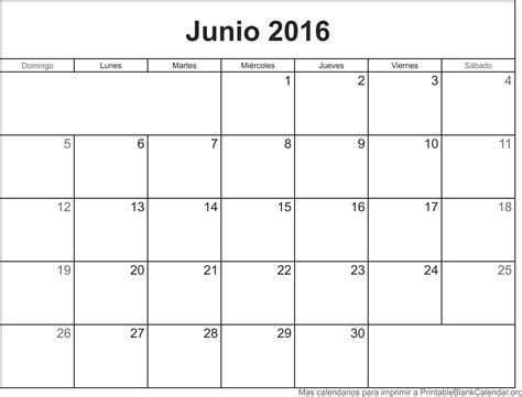 Calendario De Junio Calendario Junio 2016 Para Imprimir Calendarios Para