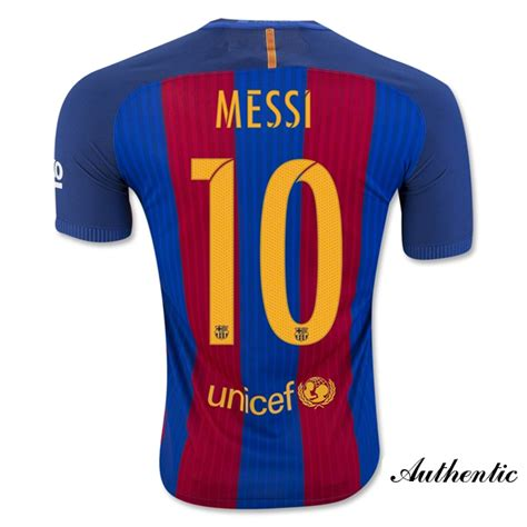 Jersey Sepakbola Barcelona L 10 Messi cheap 16 17 barcelona authentic lionel messi home jersey
