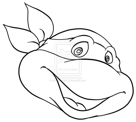 ninja turtle face coloring page ninja turtle face outline for pinterest coloring home