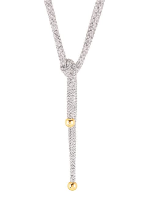 how to tie a beaded necklace adami martucci 18k gold vermeil bead mesh tie necklace
