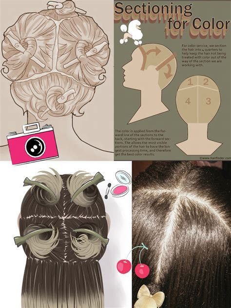 how to section hair for dying 17 best images about hair on pinterest ombre hair
