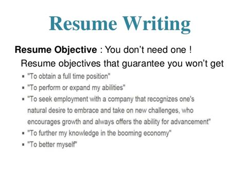 career objective means resume branding