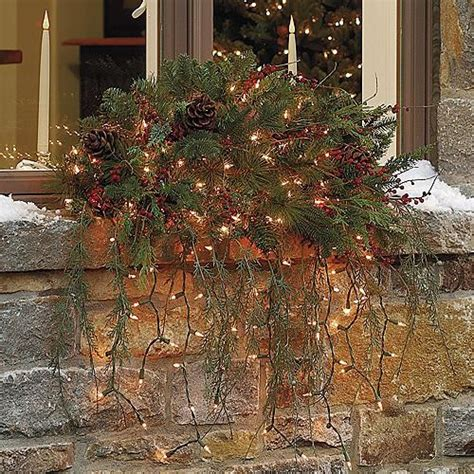 estate window christmas swag christmas decor traditional