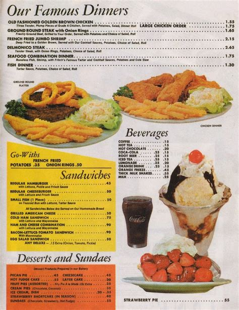 bob dinner menu 1676 best images about the 50s diner on