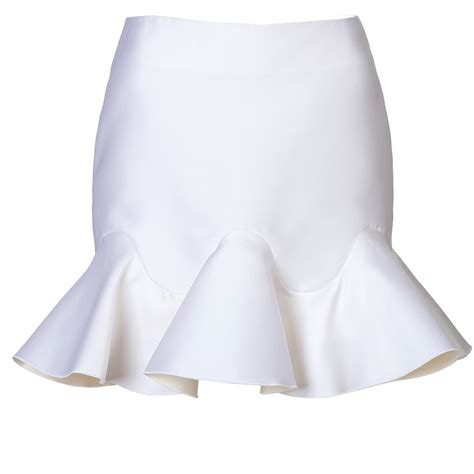 Ruffled Skirt satin ruffle trim skirt elizabeth s custom skirts