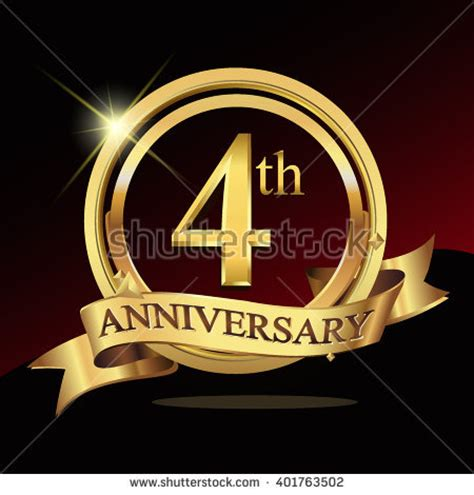 fourth wedding anniversary symbol 4th anniversary stock images royalty free images
