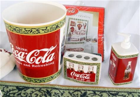 Coca Cola Bathroom Decor Set 13 Items Ebay