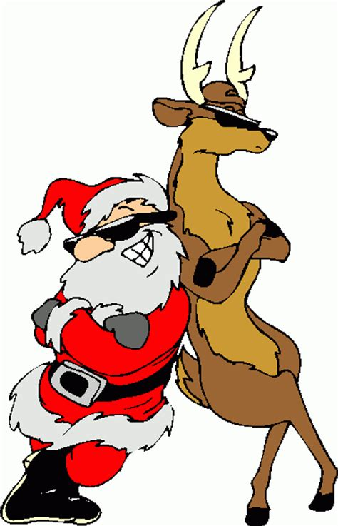 Santa and reindeer clipart christmas image #11011 Free Clip Art Santa And Reindeer