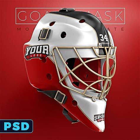 hockey goalie mask template hockey goalie mask mockup templates sports templates