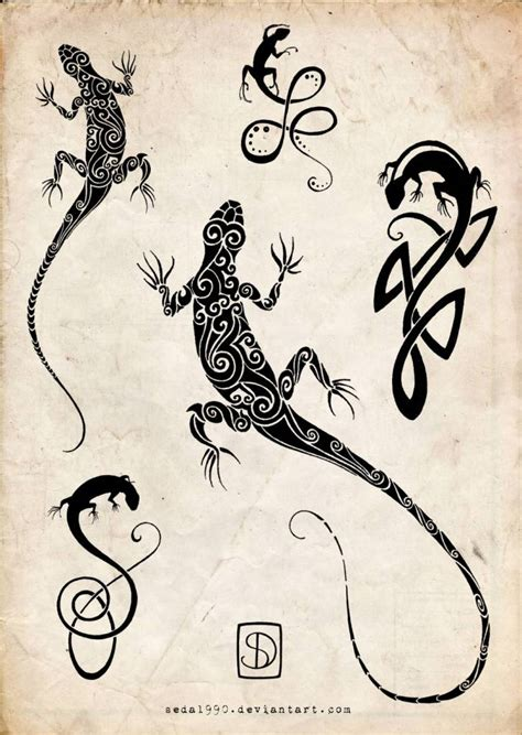 gecko tattoo designs lizard ideas and lizard designs page 4