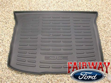 cargo mats for 2014 ford edge 2011 thru 2014 edge oem ford parts black cargo area