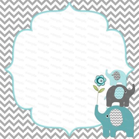 free printable elephant stationery blank for boy baby shower elephant baby shower birthday