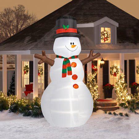 walmart christmas yard decorations 12 airblown snowman infl walmart