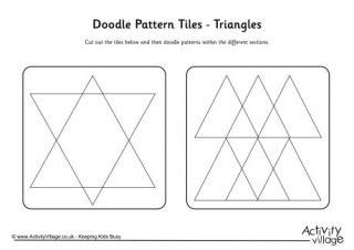doodle pattern tiles all doodle pattern tile shapes