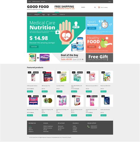 shopify themes supplement nutrition store responsive shopify theme 53081