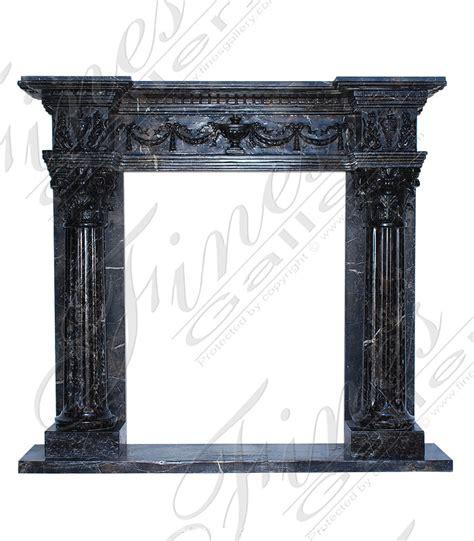 black marble fireplace surround interior exterior doors