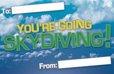 Skydiving Gift Vouchers Adelaide Tandem Skydiving Skydiving Gift Certificate Template