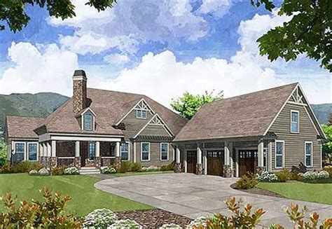 Craftsman House Plans With Detached Garage by Plan 29872rl Mountain Craftsman Home With Detached Garage