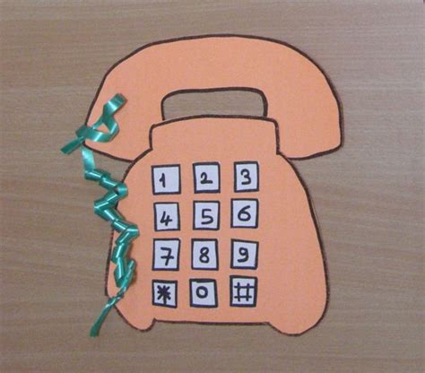telephone pattern kindergarten 27 best telephone craft idea for kids images on pinterest