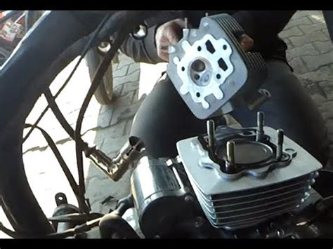 hava sogutmali motosiklet silindir piston degisimi youtube