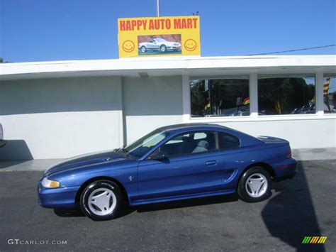 1995 ford mustang v6 1995 bright blue ford mustang v6 coupe 6149592 gtcarlot