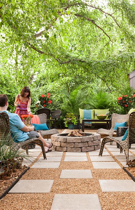 lowes backyard ideas outdoor space paver patio with fire pit