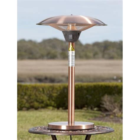 Copper Patio Table Cimarron Brushed Copper Colored Table Top Halogen Patio Heater