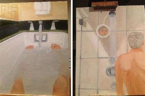 bathtub paintings george w bush s bizarre bathroom self portraits laid bare