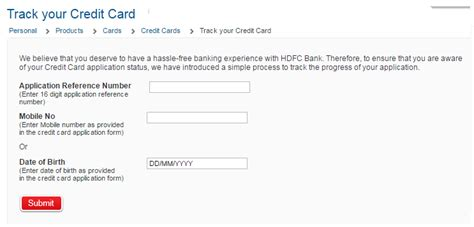 hdfc bank credit card status reference no how to check hdfc credit card application status