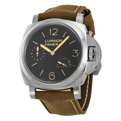 Luminor Panerai Power Reserve Silver Brown panerai luminor 1950 power reserve black brown leather s pam00423 luminor 1950
