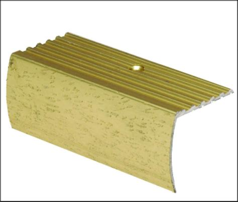 shur trim stair nosing floor moulding hammered gold 1 1