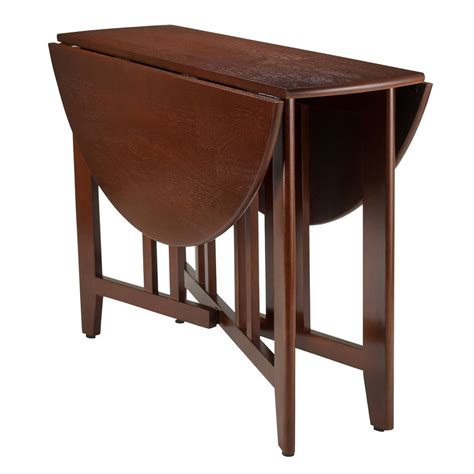 Drop Leaf Kitchen Table Winsome Wood Table Drop Leaf Mission Moon Shape Fold Modern Ebay