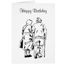 elderly happy birthday greeting cards zazzle