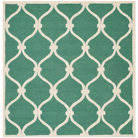 Teal Square Rug Safavieh Cambridge Teal Ivory 6 Ft X 6 Ft Square Area