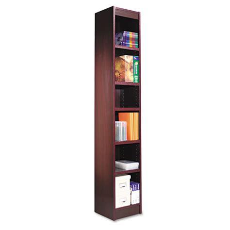 alera narrow profile bookcase alebcs67212my alera 174 narrow profile bookcase zuma