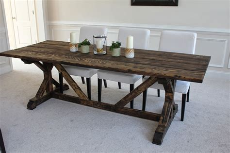 how to make a farmhouse dining table large and beautiful wooden farmhouse table plans diy blueprints farmhouse