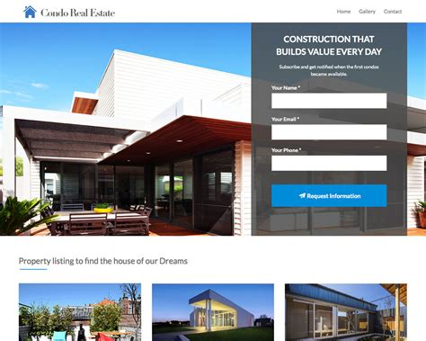 Home Mustache Themes Real Estate Landing Page Template Free
